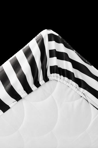 Ekologinen ALEX-kuminauhalakana 60x120 cm Musta/valkoinen 60x120+21cm
