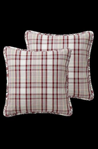 HJORT RUTA -tyynynpäälliset, 2/pakk. 45x45 cm Beige/punainen