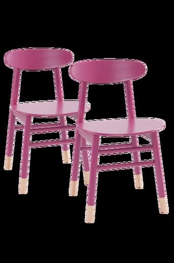 KINNA-tuolit, 2/pakk. Fuksia