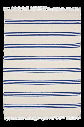 MILANO-räsymatto 140x200 cm Valkoinen/sininen