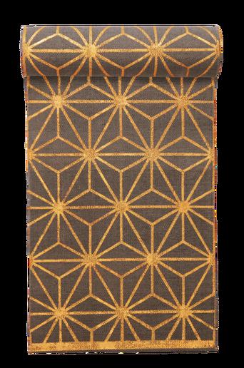 TRIESTE-puuvillamatto 70x150 cm Harmaa/kulta