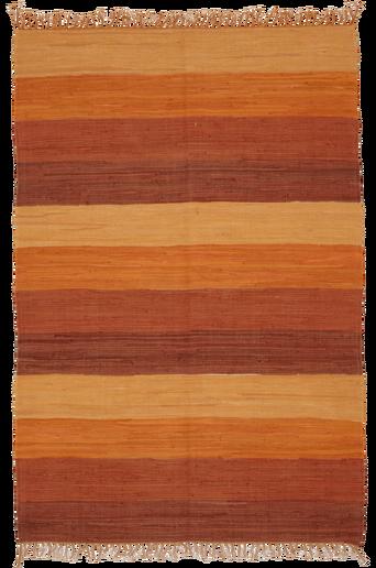 HARMONI-räsymatto, 130x190 cm Ruosteenoranssi