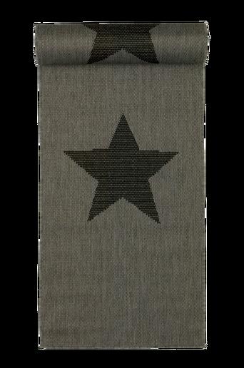STJÄRNA-bukleematto, 67x250 cm Harmaa/musta