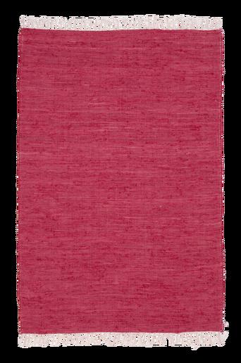 CINA-räsymatto, yksivärinen 130x190 cm Punainen