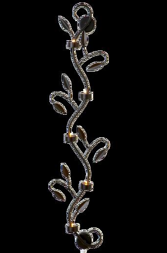 LEAFLIGHT-seinävalaisin, 5 lamppua Musta