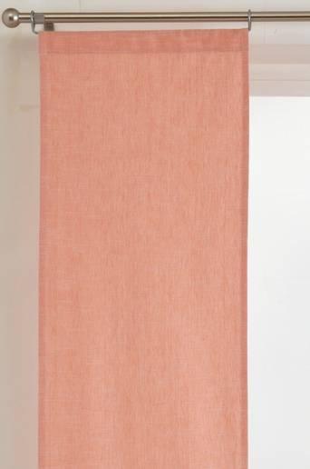 KURSIV-paneeliverhot, 2/pakk. Korallinpunainen