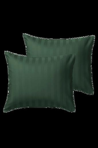 LINJE-tyynyliinat, 2/pakk. Tummanvihreä