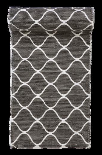 GENOVA-räsymatto 70x200 cm Valkoinen/harmaa