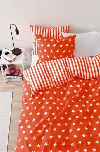 STARS & STRIPES -pussilakanasetti, 6 osaa Oranssi