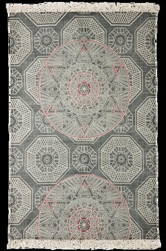 ANZIO-puuvillamatto 150x230 cm Harmaa