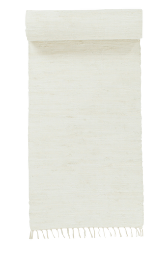 CINA-räsymatto, yksivärinen 70x250 cm Valkoinen