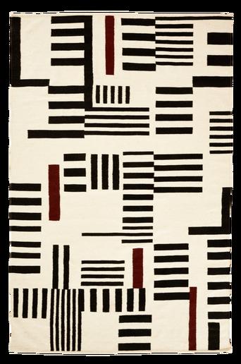 LIPARDI-villamatto 160x230 cm Musta/valkoinen/harmaa