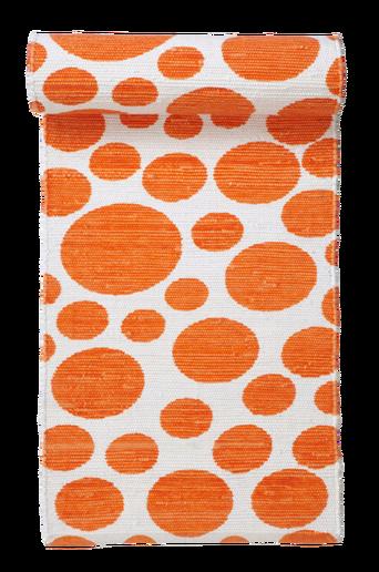 VENEDIG-räsymatto 70x250 cm Valkoinen/oranssi