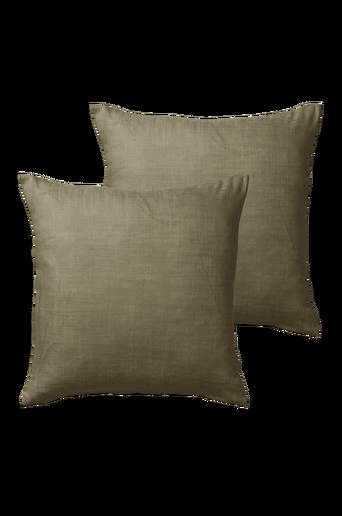 HILDA-tyynynpäälliset, 2/pakk. 45x45 cm Oliivinvihreä