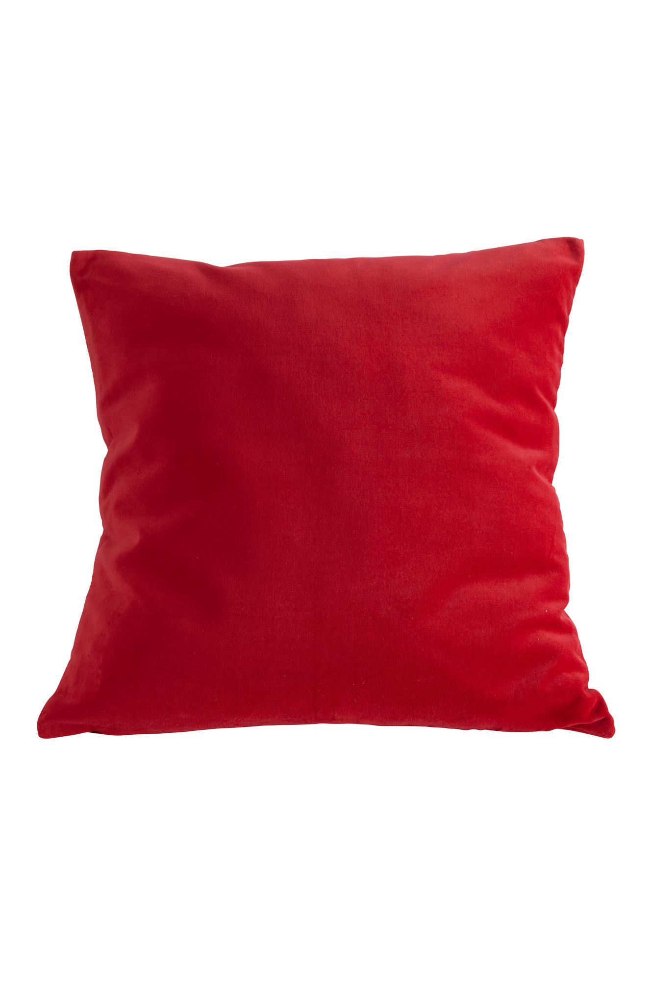 kuddfodral röd sammet