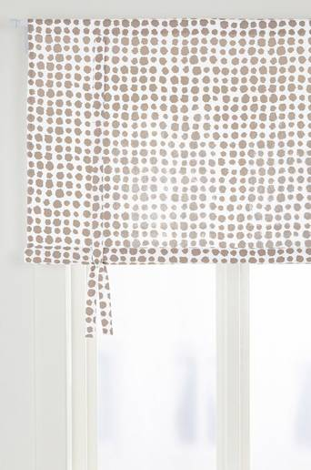 MIX BIG DOTS -laskosverho Beige