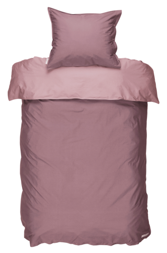 PERCALE-pussilakanasetti, 2 osaa Roosa/tumma roosa