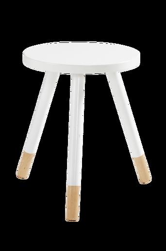 KINNA-jakkara/pöytä ø 35 cm Valkoinen
