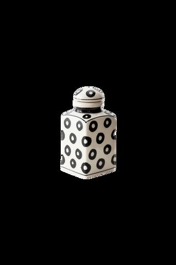 LISABON-maustepurkki, rengaskuvio Valkoinen/musta