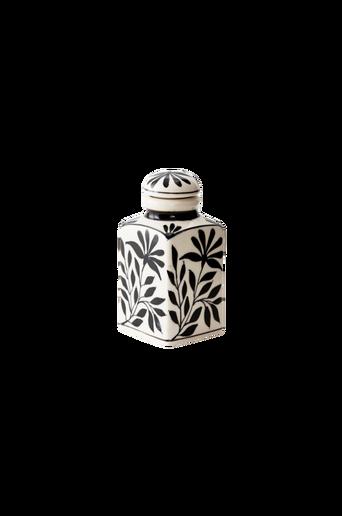 LISABON-maustepurkki, lehtikuvio Valkoinen/musta