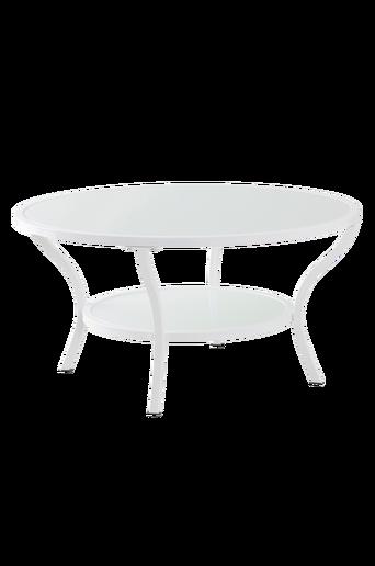 MORA-sohvapöytä ø 90 cm Valkoinen