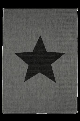 STJÄRNA-bukleematto, 133x190 cm Harmaa/musta