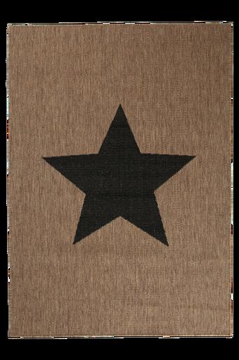 STJÄRNA-bukleematto, 133x190 cm Ruskea/musta