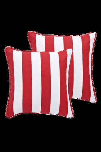 BIANCA-tyynynpäälliset, 2/pakk. 45x45 cm Punainen