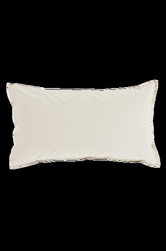 PERCALE-tyynyliina 90x50 cm Valkoinen/hopeabeige