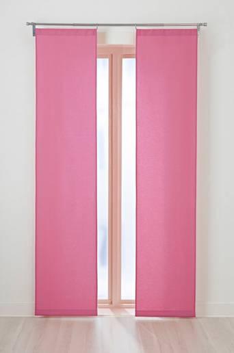 KULÖR-paneeliverhot, 2/pakk. Vaalea roosa