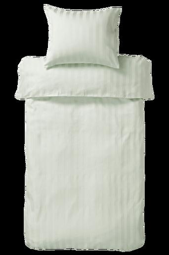 LINJE-pussilakana kapeaan sänkyyn Harmaanvihreä
