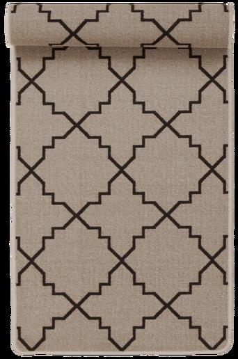 ICON-matto, 67x150 cm Harmaanruskea