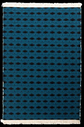 SASSARI-villamatto 250x350 cm Petrolinsininen