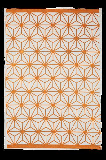 TRIESTE-puuvillamatto 130x190 cm Valkoinen/kupari
