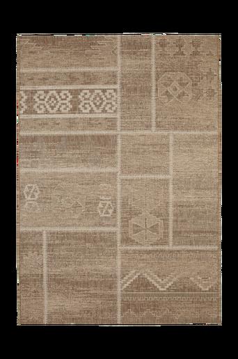 SICILIEN-bukleematto 135x190 cm Ruskea/vaaleanruskea