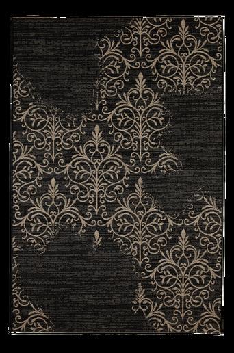 PALERMO-bukleematto 135x190 cm Musta/beige