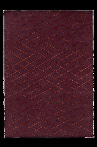 ASTI-villamatto 140x200 cm Viininpunainen