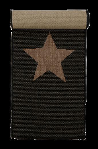 STJÄRNA-bukleematto, 60x110 cm Musta/ruskea