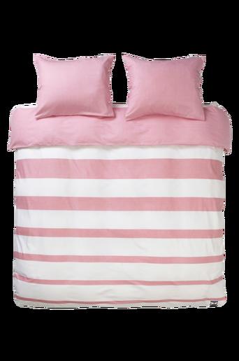 HORISONT-pussilakanasetti, 3 osaa Valkoinen/roosa