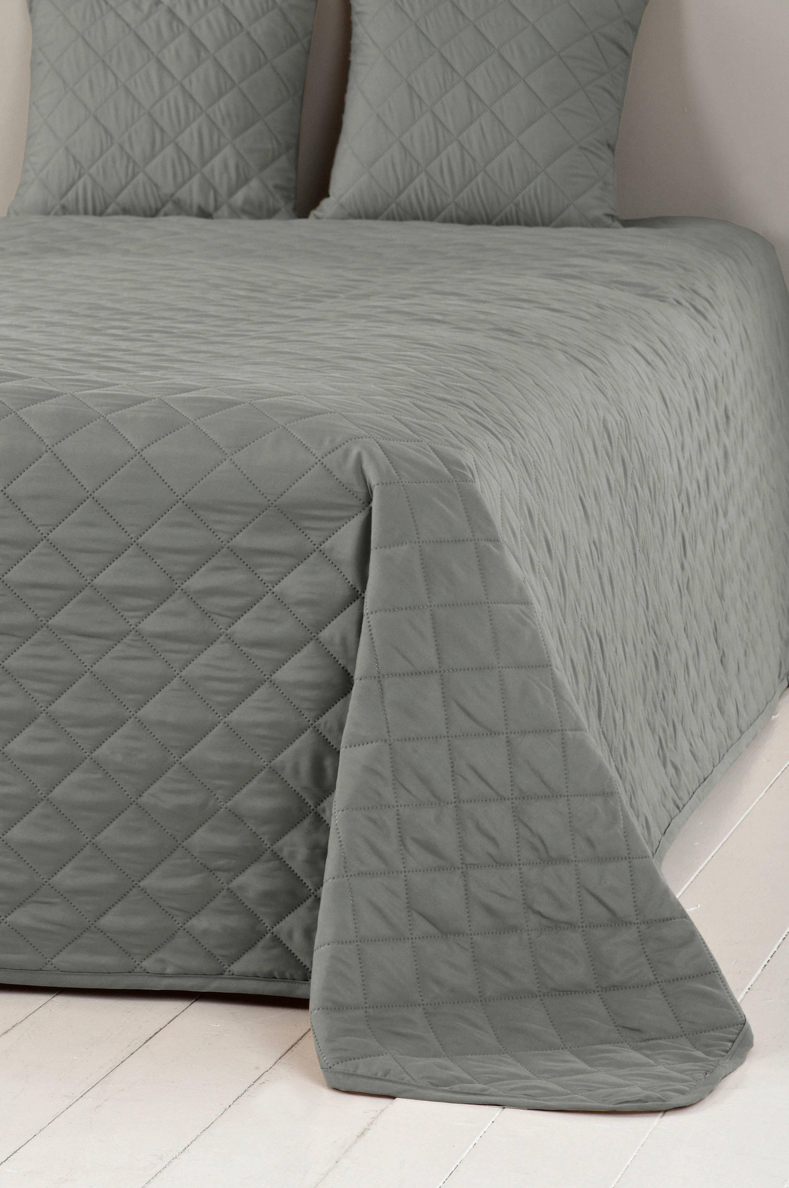 Veldig EDITH sengeteppe til dobbeltseng og 2 putetrekk - Grå - Sengetøy OD-35