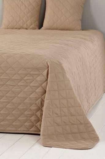 EDITH-päiväpeite parisänkyyn ja 2 tyynynpäällistä Beige
