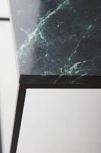 NYLAND-sohvapöytä 40x40 - marmoria Vihreä