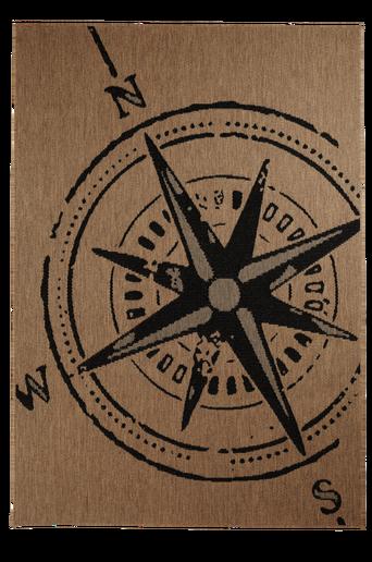 KOMPASS-bukleematto, 160x230 cm Ruskea/musta