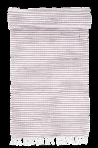 VIOLA-räsymatto 70x250 cm Kanervanroosa/valkoinen