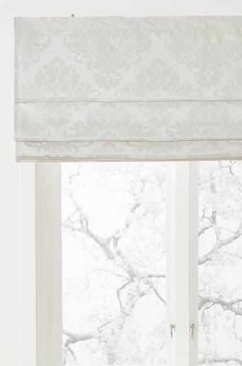 CLOTHILDE-laskosverho Valkoinen/vaaleanharmaa