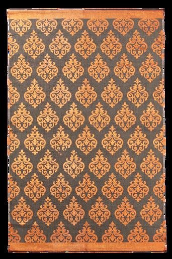 TARANTO-puuvillamatto 130x190 cm Harmaa/kupari