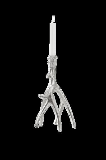 GLENNDALE-kynttilänjalka Hopeanvärinen