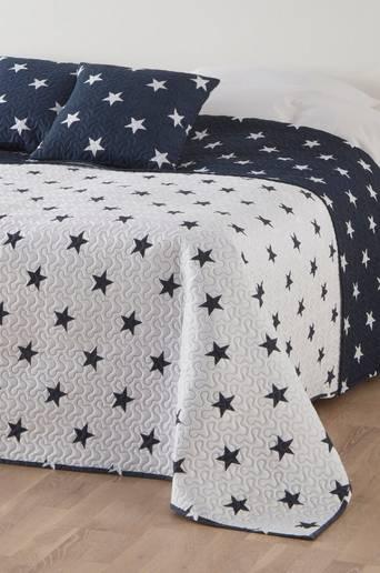 HAMPTON-päiväpeite ja 2 tyynynpäällistä Sininen