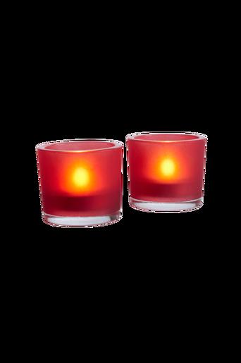 FROSTE-kynttilälyhdyt, 2/pakk. – iso Vaalea punainen