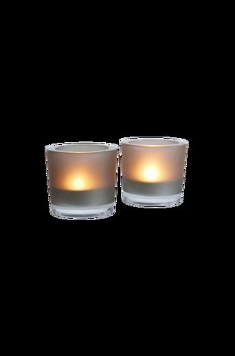 FROSTE-kynttilälyhdyt, 2/pakk. – pieni Harmaa